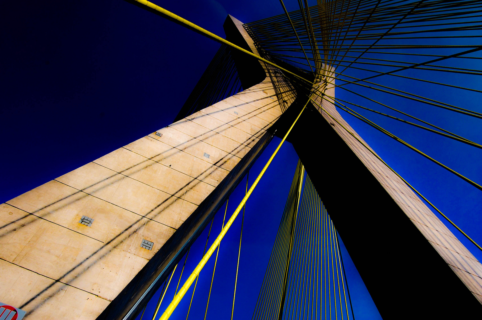 Impressive shot of a bridge, from ground level. Signifying the importance of credentialing.
